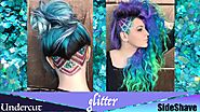 Glitter UnderCut and SideShave Hair Tutorial