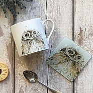Owl Mug & Coaster Set