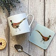 Pheasant Mug & Coaster Set