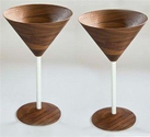 Wood Martini Glasses