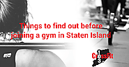Things to find out before joining a gym in Staten Island