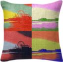 Santa Monica Pier Pop Art Pillow created by stine1 | Print All Over Me