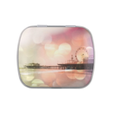 Santa Monica Pier Pink Sparkles Photo Edit Jelly Belly Candy Tins from Zazzle.com