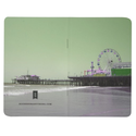 Green Purple Santa Monica Pier Journal from Zazzle.com