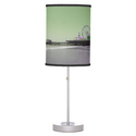 Green Purple Santa Monica Pier Table Lamp from Zazzle.com