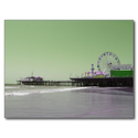 Green Purple Santa Monica Pier Post Card from Zazzle.com