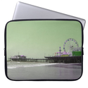 Green Purple Santa Monica Pier Computer Sleeves from Zazzle.com