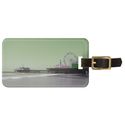 Green Purple Santa Monica Pier Tags For Luggage