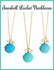 Seashell Locket Necklaces