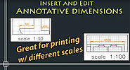 Functionality of annotative dimensions lines in AutoCAD