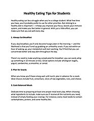 Healthy Eating Tips for Students