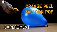 Science Activity - Balloon Blast Using Orange Peel