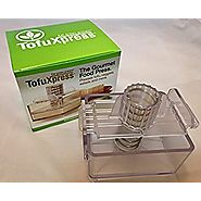 Gourmet Tofu Press / Marinating Dish - Clear. TofuXpress removes moisture from tofu and other foods automatically wit...