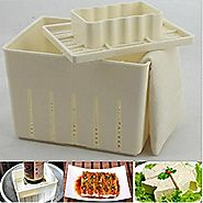 Mangocore Tofu Maker Press Mold Kit + Cheese Cloth Soy DIY Pressing Mould Kitchen Tool