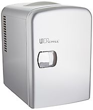 Uber Appliance UB-CH1 Uber Chill Mini Fridge 6-can portable Thermoelectric Cooler and Warmer mini fridge for bedroom,...