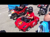 PowerWheels Racing - NIMBY Ferrari Kart FIRE!! (Maker Faire 2013)