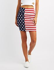 American Flag Bodycon Mini Skirt $10.99 @ Charlotte Russe