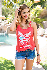 Women's Meowica Tank Top $28 @ Tipsy Elves