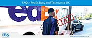 FedEx Duty Tax online Payment Invoice