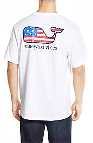 Vineyard Vines 'American Flag Whale' Graphic T-Shirt $42 @ Nordstrom