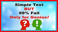 Easy IQ Test Only Genius Can Answer These IQ Question