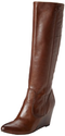 FRYE Women's Regina Wedge Tall Boot,Cognac,9 M US