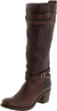 FRYE Women's Jane Strappy Knee-High Boot,Dark Brown,8 M US