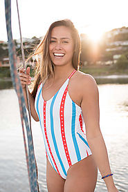Women's Grand Stand One Piece Swimsuit $38 @ Tipsy Elves