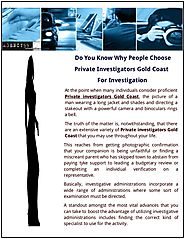 Hire Private investigators Gold Coast