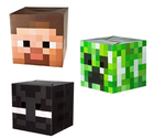 Official Minecraft Exclusive Steve , Creeper & Enderman Head Costume Mask Set of 3
