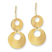 14K Yellow Gold Dangling Earrings