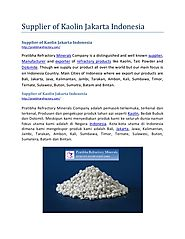 Supplier of Kaolin Jakarta Indonesia