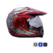 Bluetooth Helmet Cherry Red Ghost @ 11% Off