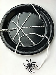Paper Plate Spiderwebs: An Easy, Fun & Inexpensive Halloween Craft Idea - Thrifty Jinxy