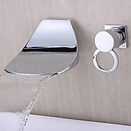 Contemporary Chrome Brass Waterfall Bathtub Faucet