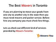 The Best Movers in Toronto Movers4You
