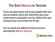 The Best Movers in Toronto by Movers4you Inc - Issuu PPT