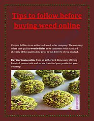 Tips to follow before buying weed online