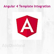 Integrate admin template in Angular 4 application