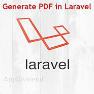 How to generate pdf in laravel 5.4