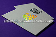 Hot Foil Textured Wild Business Cards