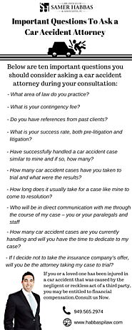 Important Questions To Ask a Car Accident Attorney