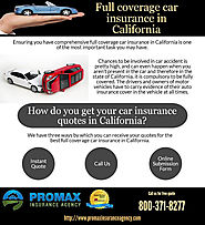 Full coverage car insurance in California