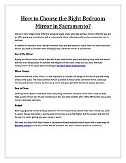 How to Choose the Right Bedroom Mirror in Sacramento?