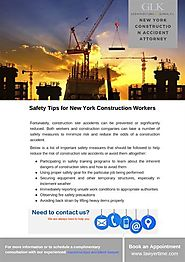 Safety Tips for New York Construction Workers - GLK