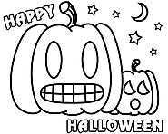 Happy Halloween Pumpkin Coloring Pages 2017 | Coloring Pages For Hall