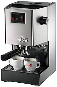 Gaggia Classic Semi-Automatic Espresso Maker. Pannarello Wand for Latte and Cappuccino Frothing. Brews for Both Singl...