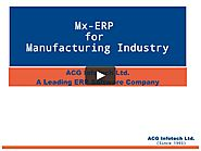 Best Online Manufacturing ERP Software Solution in 2018