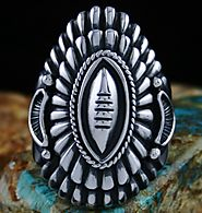 Harry H. Begay Hammered Ingot Sterling Silver Ring