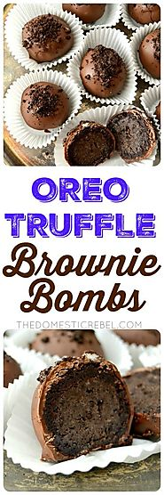 Oreo Truffle Brownie Bombs